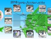 """بالإنفوجراف.. 12 ملعبا تحتضن مباريات الفراعنة فى كأس العالم """"روسيا – 2018"""""""