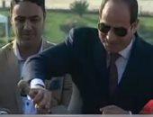 الرئيس السيسي يضع حجر أساس المرحلة الأولى بالعاصمة الإدارية الجديدة