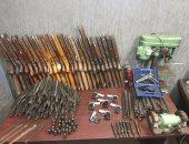 ضبط 15 قطعة سلاح نارى وطلقات فى حملات أمنية بعدد من مراكز قنا