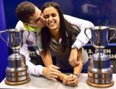 على فرج: تتويجى وزوجتى بلقب بطولة أمريكا للإسكواش أكبر مفاجأة