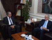 السفير الإيطالى يلتقى وزير التموين والتجارة لاستكمال المشروع القومى للصوامع