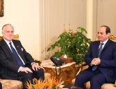 السيسى يؤكد لرئيس الكونجرس اليهودى حرص مصر على تحقيق المصالحة بفلسطين