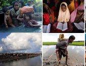 50 صورة تكشف معاناة الروهينجا وسط غياب المجتمع الدولى.. هروب 582 ألفا من مسلمى ميانمار إلى بنجلاديش.. 15 ألف عالقين على الحدود و60% من الفارين أطفال.. والأمم المتحدة: الجفاف والجوع يهددان حياة اللاجئين