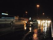 سقوط أمطار غزيرة مصحوبة بأصوات رعدية وبرق فى شمال سيناء