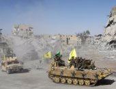 انتشار 1000 مقاتل كردى فى 10 نقاط مراقبة شمال الرقة قرب الحدود مع تركيا