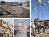 القوات السورية ترفع أعلامها فى أنحاء مدينة الرقة