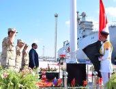 الرئاسة: السيسى يرفع علم مصر على قاعدة الإسكندرية فى يوم القوات البحرية