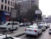 كثافات مرورية بطريق السويس والدائرى بسبب أعمال تطوير بشارع الثورة