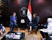 سحر نصر تبحث مع سفير الاتحاد الأوروبى بالقاهرة زيادة الاستثمارات