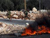 إصابة فلسطينيين فى مواجهات مع الاحتلال الإسرائيلى شرق قلقيلية