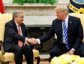 بالصور.. دونالد ترامب يستقبل الأمين العام للأمم المتحدة فى البيت الأبيض