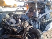 ننشر أول فيديو وصور لحادث تصادم 4 سيارات بطريق أسيوط ـ البحر الأحمر