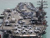 حاملة الطائرات الأمريكية رونالد ريجان تزور ميناء هونج كونج