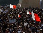 بالصور.. تظاهرات فى مالطا احتجاجا على مقتل صحفية فضيحة وثائق بنما