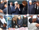 شيخ الأزهر ووزيرة التضامن يزوران مصابى حادث الواحات ويشيدان بشجاعة قوات الأمن