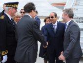 بالصور.. الرئيس السيسي  يصل فرنسا في زيارة رسمية لمدة 3 أيام