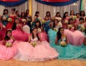 بالصور.. نيكاراجوا تنظم حفلا جماعيا لمحاربة مرض السرطان