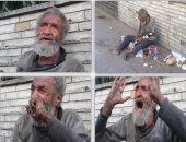 التضامن :عجوز مشرد بقصر العيني يرفض محاولة فريق الانقاذ لنقله لدار رعاية