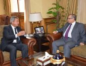 وزير الرياضة يناقش مع سفير مصر بروسيا عدد الجماهير فى المونديال