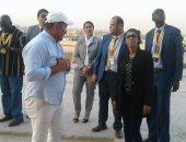 بالصور.. زوجة رئيس جامبيا فى زيارة إلى الأهرامات