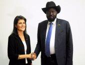 بالصور..السفيرة الأمريكية فى الأمم المتحدة تلتقى رئيس جنوب السودان فى جوبا