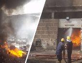 السيطرة على حريق داخل مصنع فى أكتوبر دون إصابات