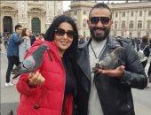 سمية الخشاب وأحمد سعد يقضيان شهر العسل فى فيينا