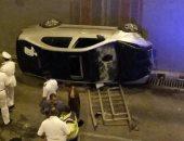 إصابة 3 أشخاص فى انقلاب سيارة ملاكى داخل نفق الثلاثينى بالإسماعيلية