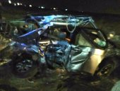 مصرع سائق وإصابة أخر في حادث تصادم بكفر الشيخ