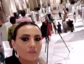 بشرى تنشر فيديو من داخل المتحف المصرى