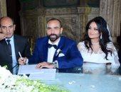 الكينج ومحمد ثروت فى زفاف كريمة أحمد ناصر وهالة أبوعلم
