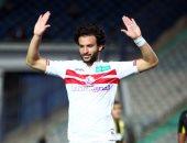 محمود علاء يحرز الهدف الأول للزمالك أمام المقاولون العرب ويتصدر هدافى الدوري