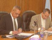 المحافظ ورئيس جامعة السويس يوقعان برتوكول تعاون بين فى كافة المجالات
