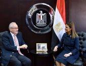سحر نصر تبحث مع سفير روما مبادلة الديون وزيادة استثمارات إيطاليا بمصر