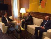 """رئيس وزراء اليونان لـ""""سامح شكرى"""": متضامنون مع مصر فى حربها ضد الإرهاب"""