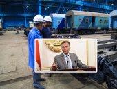 وزير النقل يتفقد ورش السكة الحديد بالتبين لمتابعة تأهيل الجرارات الأمريكية