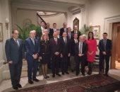 بالصور.. السفير المصرى بواشنطن يقيم مأدبة عشاء لعبد العال ووفد البرلمان