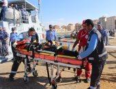 مركز البحث والإنقاذ الرئيسى للقوات المسلحة ينفذ تجربة إنقاذ سفينة مدنية