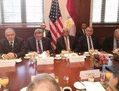 وفد البرلمان برئاسة على عبد العال يلتقى أعضاء غرفة التجارة الأمريكية بواشنطن