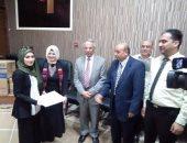 """بالصور.. محافظ شمال سيناء يكرم متدربات مشروع """"فرصة"""" بالعريش"""