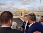 بالصور.. السفير الألمانى بالقاهرة يزور مشروعات محطات معالجة المياه بالأميرية