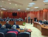 بالصور.. محافظ بورسعيد يجتمع بمرشحى المصرى