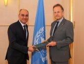 مندوب مصر بالأمم المتحدة يقدم أوراق اعتماده بالمقر الأوروبى للمنظمة الدولية