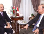 محافظ القاهرة يستقبل سيرجى راتسكوف سفير بيلاروسيا