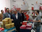 مدير أمن المنوفية يتفقد معرض حلوى المولد النبوى وإدارة المرور