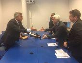 بالصور.. رئيس الرقابة الإدارية يلتقى وزير العدل الجزائرى على هامش مؤتمر مكافحة الفساد بفيينا