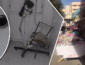 بالفيديو والصور.. سوق الخضار يحاصر مستشفى المطرية والفئران تغزو العيادات