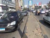 زحام مرورى بسبب أتوبيس معطل أعلى محور الثورة اتجاه مصر الجديدة