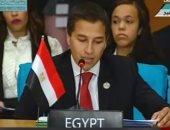 ممثل مصر بنموذج محاكاة مجلس الأمن: دول تدعم الإرهاب على حساب دماء الشعوب