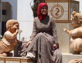 نحاتة المنيا بعد حوار السيسى معها: الرئيس قالى أنت جميلة جدا وهفاصل معاكى